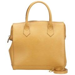 Vintage Authentic Fendi Brown Leather Satchel Italy w Dust Bag LARGE