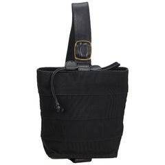 Vintage Authentic Ferragamo Black Fabric Vara Single Strap Backpack Italy SMALL