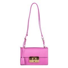 Vintage Authentic Ferragamo Leather Aileen Shoulder Bag w Dust Bag Box SMALL