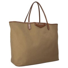 Vintage Authentic Givenchy Brown Antigona Shopper Tote Italy w Pouch LARGE