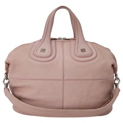 Vintage Authentic Givenchy Pink Leather Nightingale Satchel Italy w LARGE