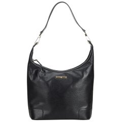 Vintage Authentic Gucci Black Leather Hobo Bag Italy MEDIUM