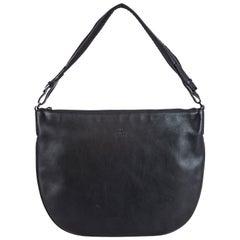 Vintage Authentic Gucci Black Leather Shoulder Bag Italy MEDIUM