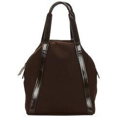 Vintage Authentic Gucci Black Nylon Fabric Handbag Italy w/ Dust Bag SMALL