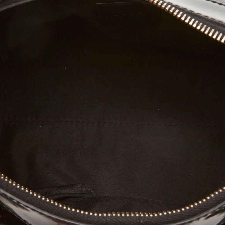 Vintage Authentic Gucci Black Patent Leather Abbey D-Ring Handbag Italy MEDIUM  1
