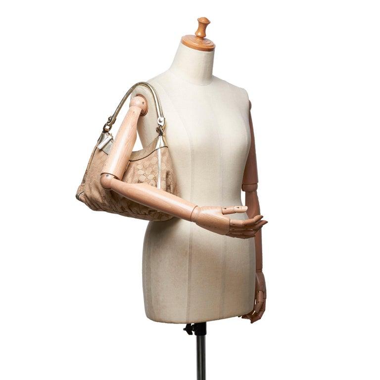 Vintage Authentic Gucci Brown GG Abbey D Ring Handbag Italy w Dust Bag MEDIUM  5