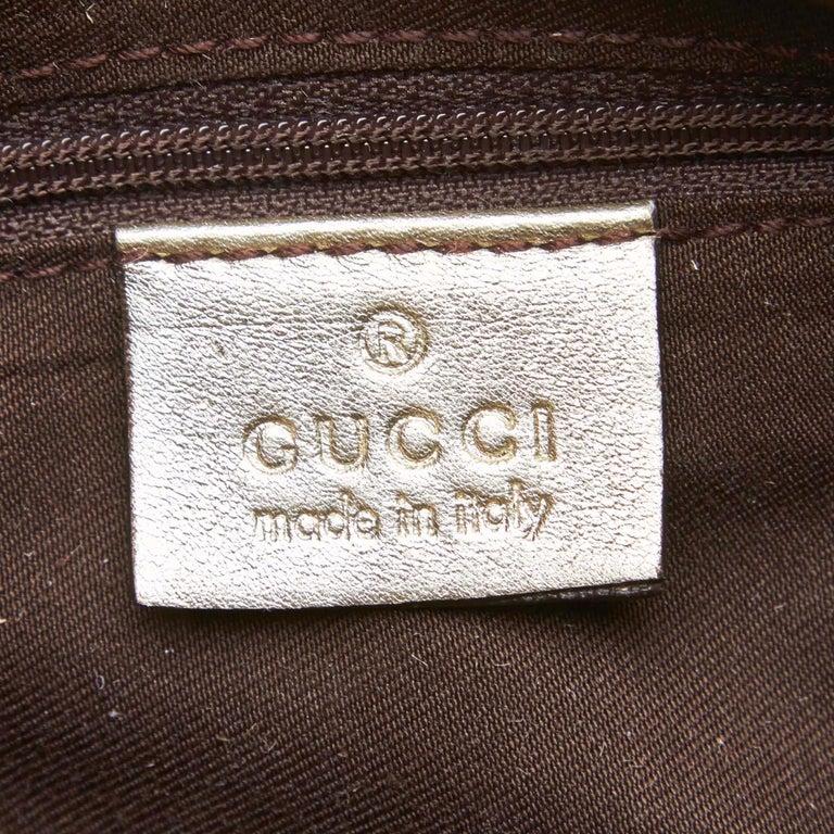 Vintage Authentic Gucci Brown GG Abbey D Ring Handbag Italy w Dust Bag MEDIUM  1