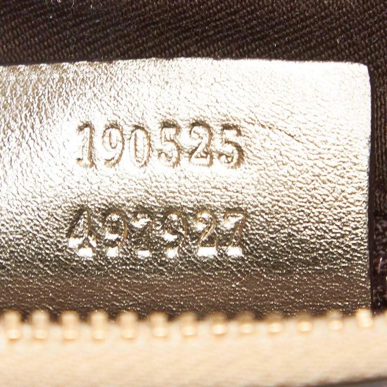 Vintage Authentic Gucci Brown GG Abbey D Ring Handbag Italy w Dust Bag MEDIUM  2