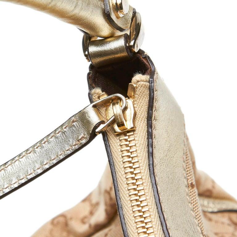 Vintage Authentic Gucci Brown GG Abbey D Ring Handbag Italy w Dust Bag MEDIUM  4