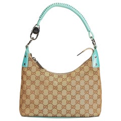 Vintage Authentic Gucci Brown Light Guccissima Shoulder Bag Italy MEDIUM
