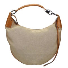 Vintage Authentic Gucci Brown Moon Hobo Bag Italy w Dust Bag LARGE
