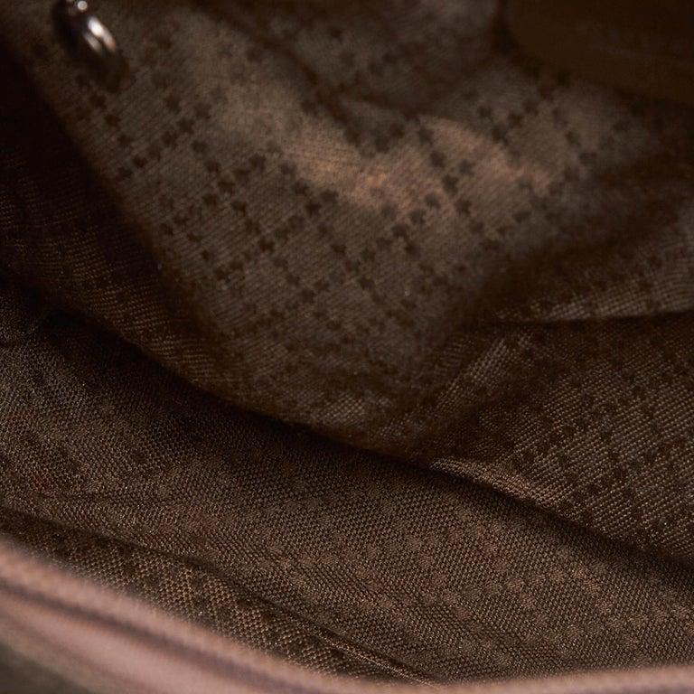 Women's Vintage Authentic Gucci Dark Nylon Fabric Bamboo Handbag Italy Dust Bag MEDIUM  For Sale