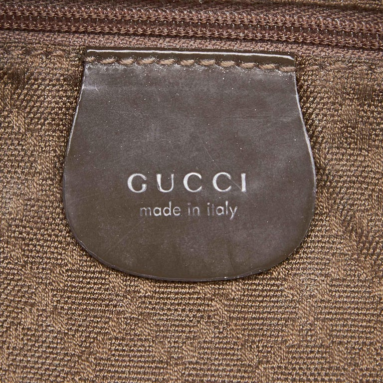 Vintage Authentic Gucci Dark Nylon Fabric Bamboo Handbag Italy Dust Bag MEDIUM  For Sale 1