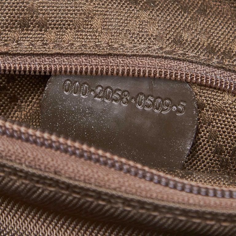 Vintage Authentic Gucci Dark Nylon Fabric Bamboo Handbag Italy Dust Bag MEDIUM  For Sale 2