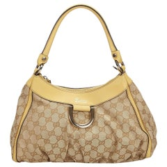 Vintage Authentic Gucci GG Abbey D Ring Shoulder Bag Italy w Dust Bag MEDIUM