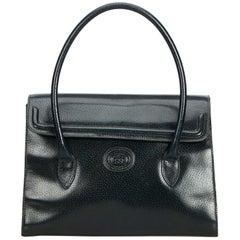 Vintage Authentic Gucci Green Leather Handbag Italy w Dust Bag MEDIUM
