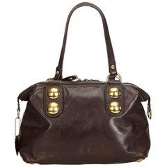 Vintage Authentic Gucci Leather Babouska Heart Shoulder Bag w Dust Bag LARGE