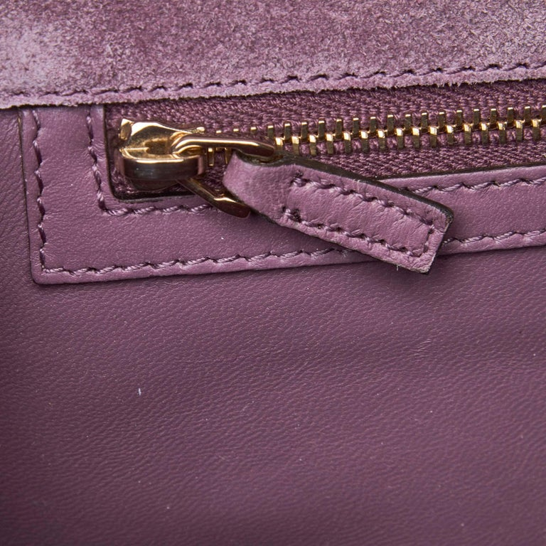 Vintage Authentic Gucci Purple Microguccissima Broadway Clutch Italy SMALL  For Sale 4