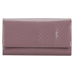 Vintage Authentic Gucci Purple Microguccissima Broadway Clutch Italy SMALL