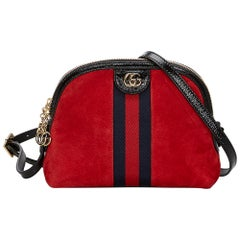 Vintage Authentic Gucci Red Small Ophidia Crossbody Bag ITALY SMALL