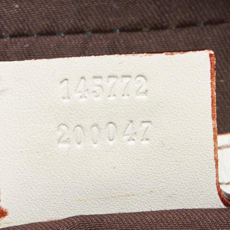 Vintage Authentic Gucci White Leather Horsebit Handbag Italy w Dust Bag MEDIUM  3
