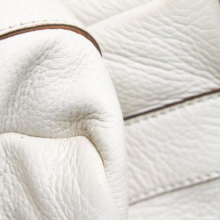 Vintage Authentic Gucci White Leather Jungle Shoulder Bag ITALY MEDIUM  8
