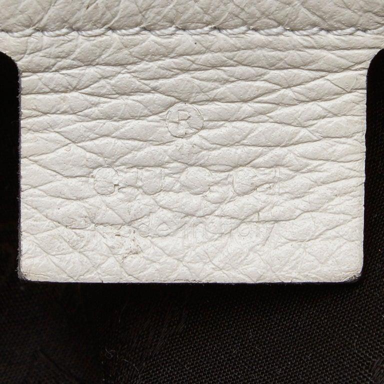Vintage Authentic Gucci White Leather Jungle Shoulder Bag ITALY MEDIUM  2