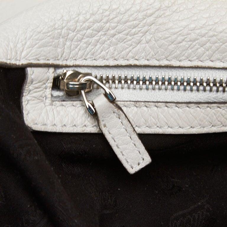 Vintage Authentic Gucci White Leather Jungle Shoulder Bag ITALY MEDIUM  4