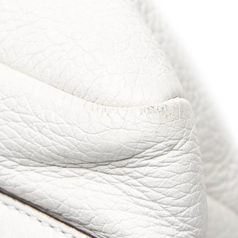Vintage Authentic Gucci White Leather Jungle Shoulder Bag ITALY MEDIUM  5