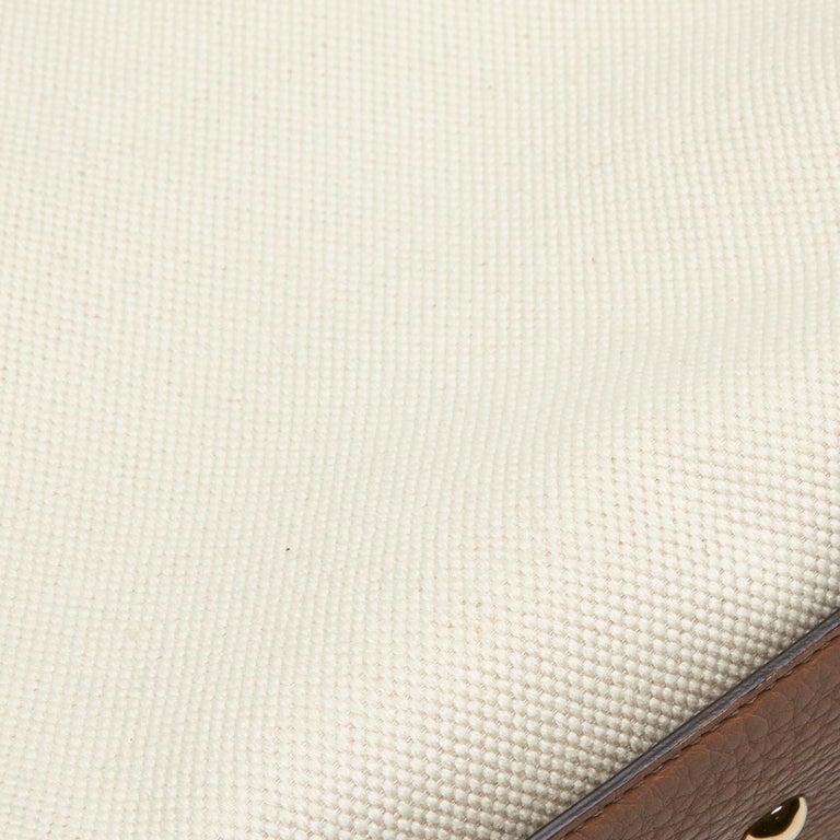 Vintage Authentic Gucci White Light Soho Shoulder Bag Italy MEDIUM  For Sale 4