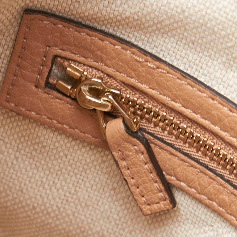 Vintage Authentic Gucci White Light Soho Shoulder Bag Italy MEDIUM  For Sale 5