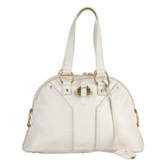 Vintage Authentic Leather Muse Shoulder Bag w Dust Bag Padlock Key Padlock Key