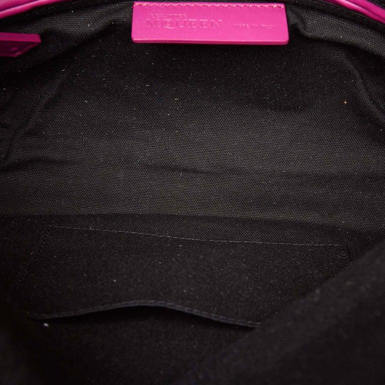 Vintage Authentic Leather Skull Padlock Fold over Clutch Bag w Padlock Key  For Sale 1