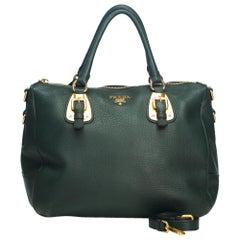 Vintage Authentic Leather Vitello Daino Satchel w Dust Bag Authenticity Card
