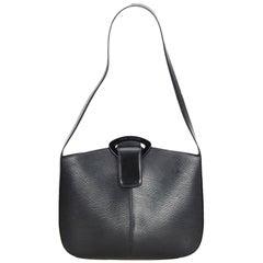 Vintage Authentic Louis Vuitton Black Epi Leather Reverie France MEDIUM