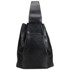 Vintage Authentic Louis Vuitton Black Epi Leather Sac a Dos France LARGE