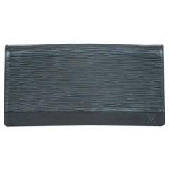 Vintage Authentic Louis Vuitton Black Honfleur Spain w Dust Bag Box SMALL