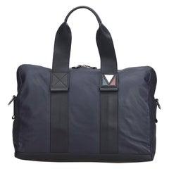 Vintage Authentic Louis Vuitton Black Leather V-Line Start PM France SMALL