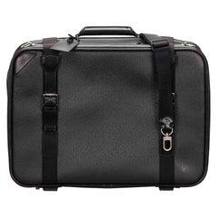 Vintage Authentic Louis Vuitton Black Satellite 53 Luggage France LARGE