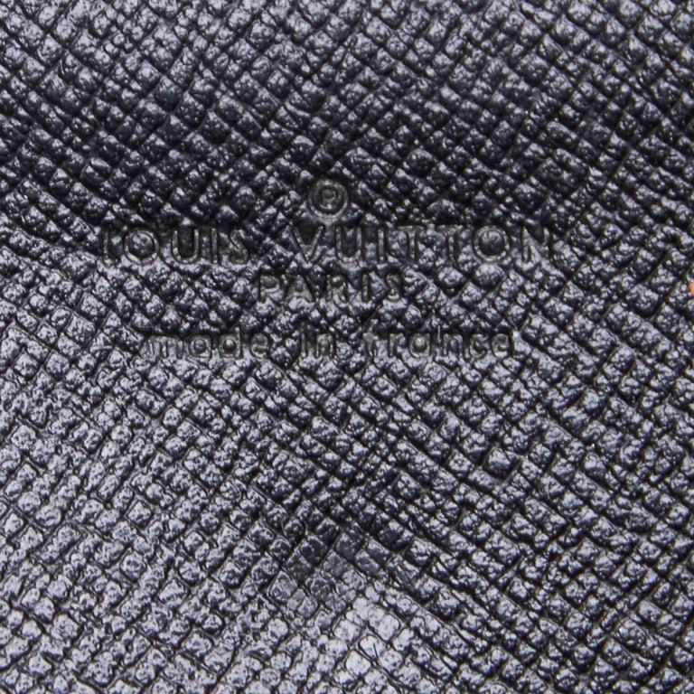 Vintage Authentic Louis Vuitton Black Vintage Montaigne France w Dust Bag SMALL  For Sale 2