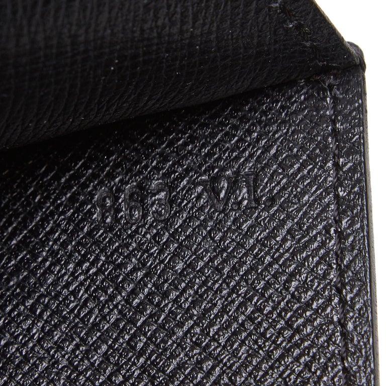 Vintage Authentic Louis Vuitton Black Vintage Montaigne France w Dust Bag SMALL  For Sale 3