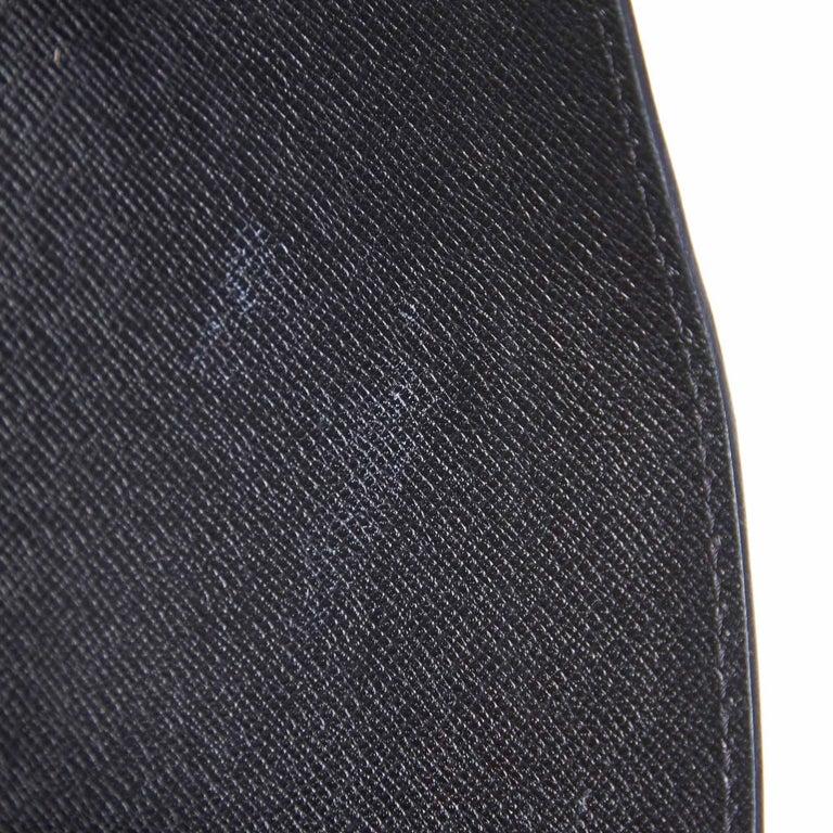 Vintage Authentic Louis Vuitton Black Vintage Montaigne France w Dust Bag SMALL  For Sale 4