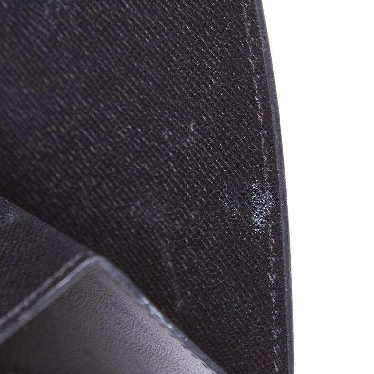 Vintage Authentic Louis Vuitton Black Vintage Montaigne France w Dust Bag SMALL  For Sale 5