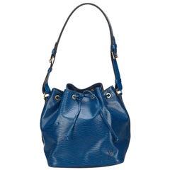 Vintage Authentic Louis Vuitton Blue Epi Leather Petit Noe France w SMALL