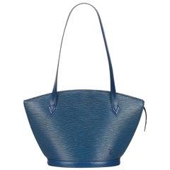 Vintage Authentic Louis Vuitton Blue Saint Jacques Long Strap PM France SMALL