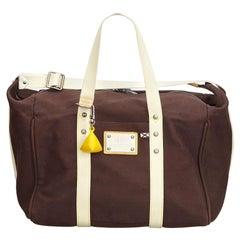Vintage Authentic Louis Vuitton Brown Antigua Sac Weekend France LARGE