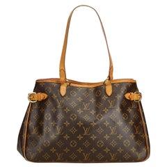 Vintage Authentic Louis Vuitton Brown Batignolles Horizontal France w LARGE
