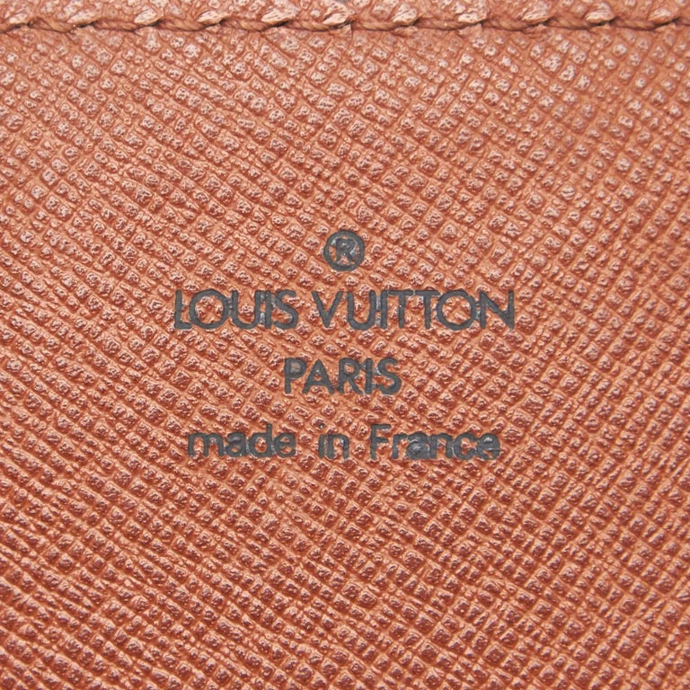 Vintage Authentic Louis Vuitton Brown Cartouchiere GM France LARGE  For Sale 2