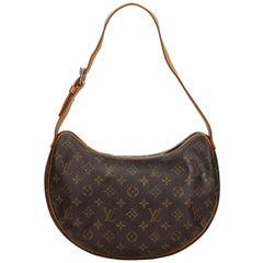 Vintage Authentic Louis Vuitton Brown Croissant MM France MEDIUM