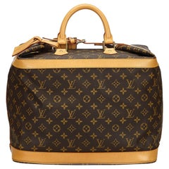 Vintage Authentic Louis Vuitton Brown Cruiser 40 France w Padlock Key LARGE